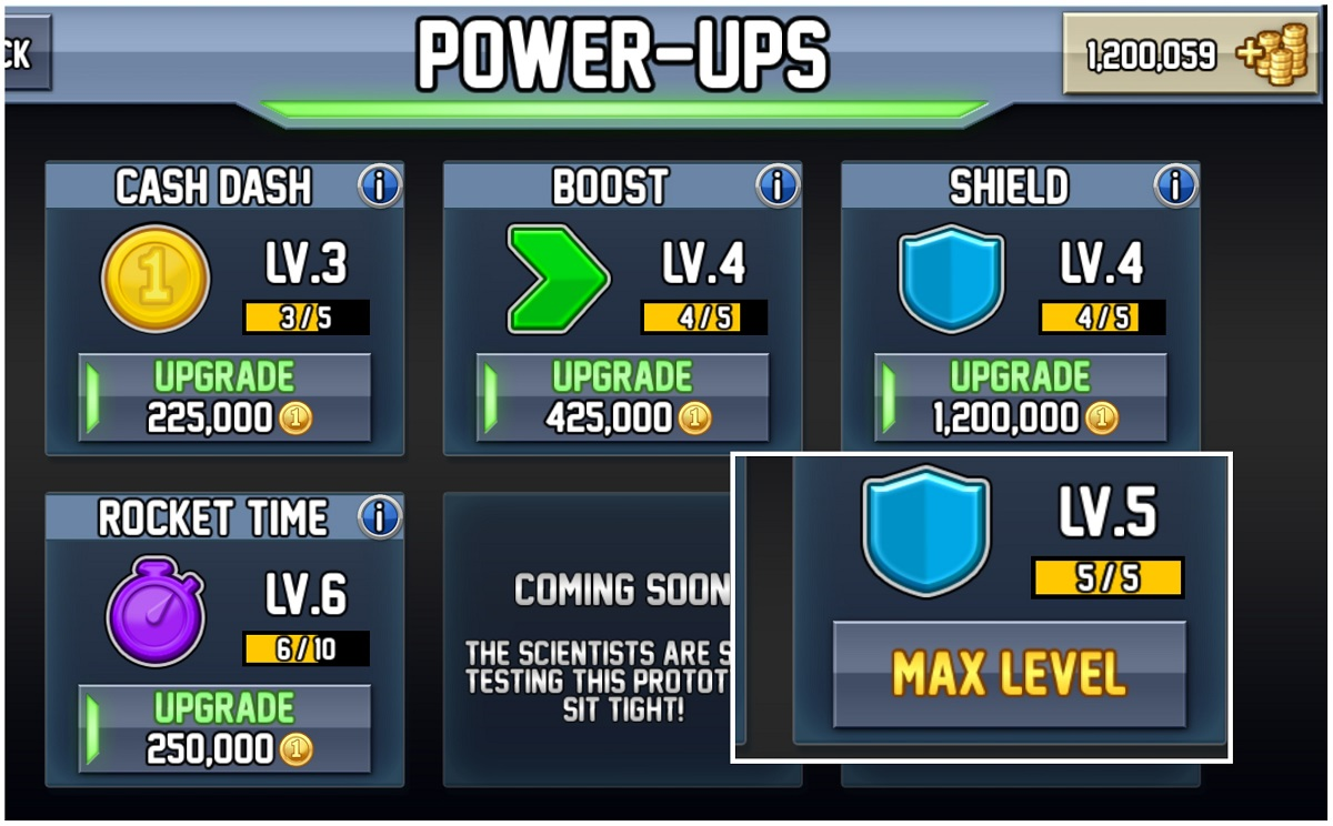 Jetpack Joyride Power-ups/Collectibles